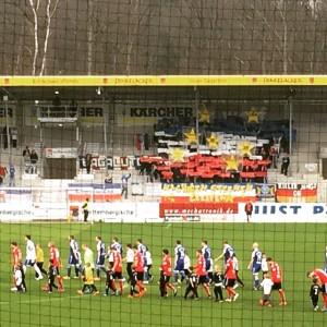 Holstein Kiel sogar mit Choreo im Auswärtsblock mit 50 Mann #groundhopping #grossaspach