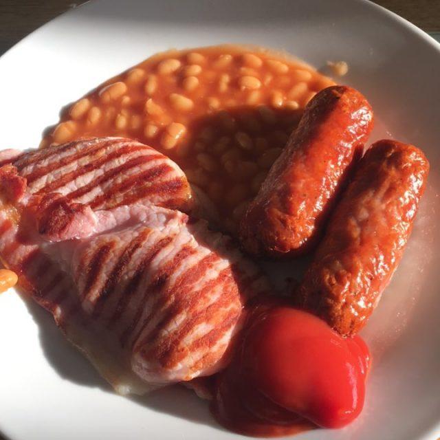 Ein letztes engliish breakfast in Cornwall lowcarb cornwallhike cornwallhike17